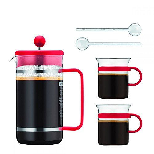 Bodum BISTRO Kaffeebereiter Set 1 l, rot