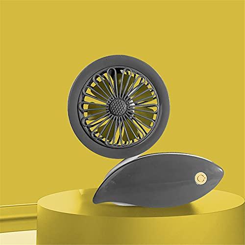 ventilador pequeño,Ventilador pequeño simple y creativo de carga USB, adecuado para mini ventilador de bobinado montado en soporte de mano de múltiples escenas gris