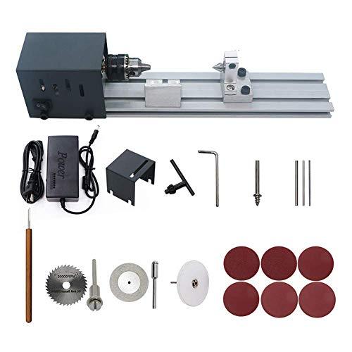 Grundlegende Holzdrehmaschine Mini Drehmaschine Holzbearbeitung DIY Drehmaschine Set Miniatur Buddha Perle Drehmaschine