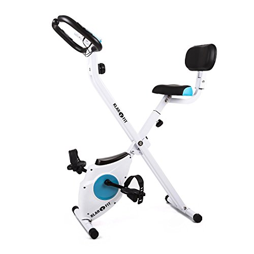 Klarfit Azura Comfort Fahrrad, feststehend, Weiß, Weiß, Blanca-Con Respaldo y asideros laterales