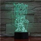 Baby Groot Wächter der Galaxie Action-Figuren Nettes Modell Spielzeug 3D Nacht Lampe LED Licht Weihnachtsgeschenke Kinder