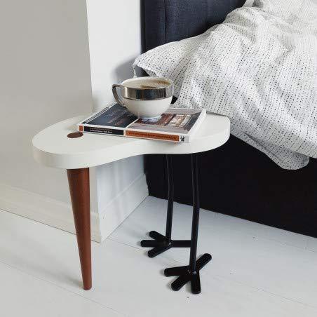 Alfred & Compagnie Nachttisch, Holz, lackiert, Füße aus Metall, 36 cm