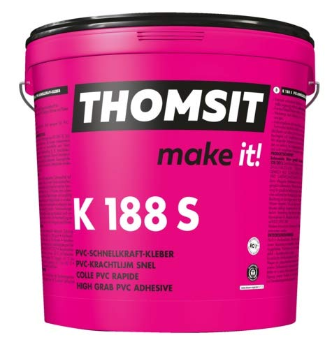 Thomsit PCI K 188 S PVC-Schnellkraftkleber für Vinylboden und PVC Bodenbelag 14kg
