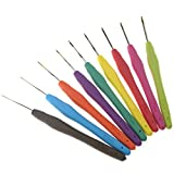 Emma - 9 agujas de ganchillo de aluminio, para tejer, de 0,5 mm a 2,5 mm