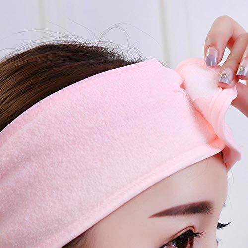 TUW Bandes de Cheveux élastiques Head Turban Mesdames Serviette en Tissu cosmétique Tiara Bandeaux pour Femmes, Jaune