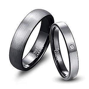 NUNCAD Herren-Ring Wolframcarbid Außenbreite 6mm bequem, Men Fashion Schmuck Ehering Verlobungsring Freundschaftsring Lifestyle-Ring Größe 63 (23)