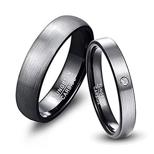 NUNCAD Herren-Ring Wolframcarbid Außenbreite 6mm bequem, Men Fashion Schmuck Ehering Verlobungsring Freundschaftsring Lifestyle-Ring Größe 69 (29)