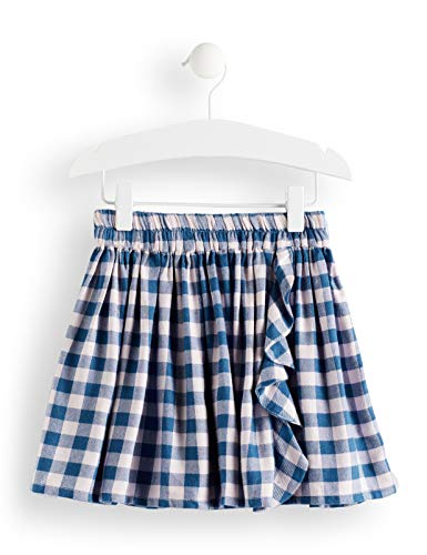 Marca Amazon - Red Wagon Falda Niñas, Azul (Blue/Pink Check), 104, La