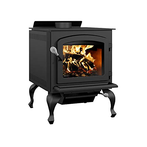 Drolet Legend III Wood Stove with Blower Extra Large 2020 EPA Certified Wood Stove - 90,000 BTU – 2,300 sq.ft, Model# DB03073