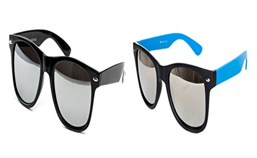 Ciffre 2 Brillen im Set Nerdbrille Nerd Brille Sonnenbrille Schwarz Verspiegelt Nerd Türkis Matt