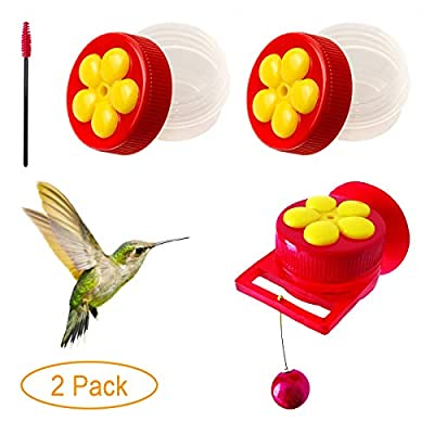 Naomo Handheld Hummingbird Feeders with Suction Cup, Multifunctional Mini Hummingbird Feeder with Perches for Outdoors, Kit Includes Cleaning Brush