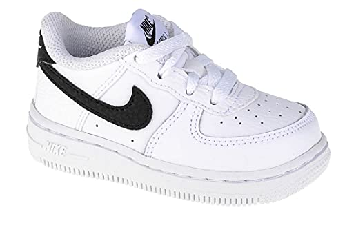 Nike Force 1 (TD), Zapatillas Deportivas Unisex niños, Blanco y Negro, 23.5 EU