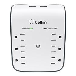Image of Belkin 6-Outlet USB Surge...: Bestviewsreviews
