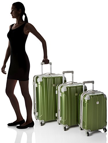Beverly Hills Country Club Newport 3-piece Hardside Spinner Luggage Set, Green Montana