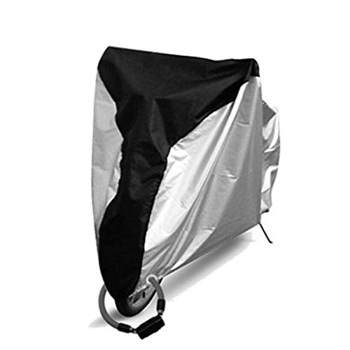 WILLQ Motorrad abdeckplane wasserdicht Außenschutz, Schutz vor Staub, Schmutz, Regen und Wetter,Motorradabdeckung wasserdicht im Freien,Edge Silver,S