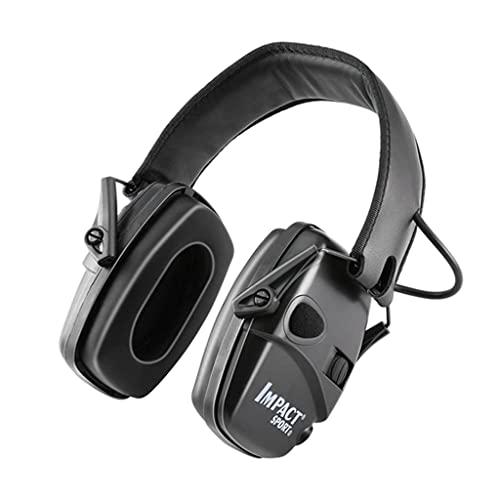 Milageto Fone de Ouvido Protetor de Orelhas de Abafador de Ouvido de Tiro Eletrônico - Preto