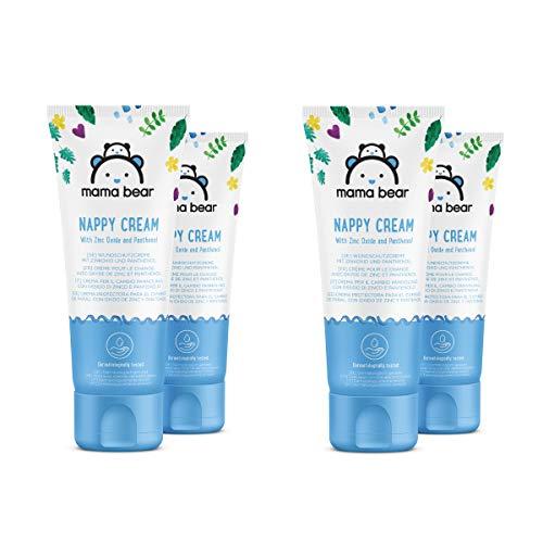 Marca Amazon- Mama Bear - Crema protectora para bebés para el cambio del pañal con óxido de zinc y pantenol- 4 tubos - 4x150ml