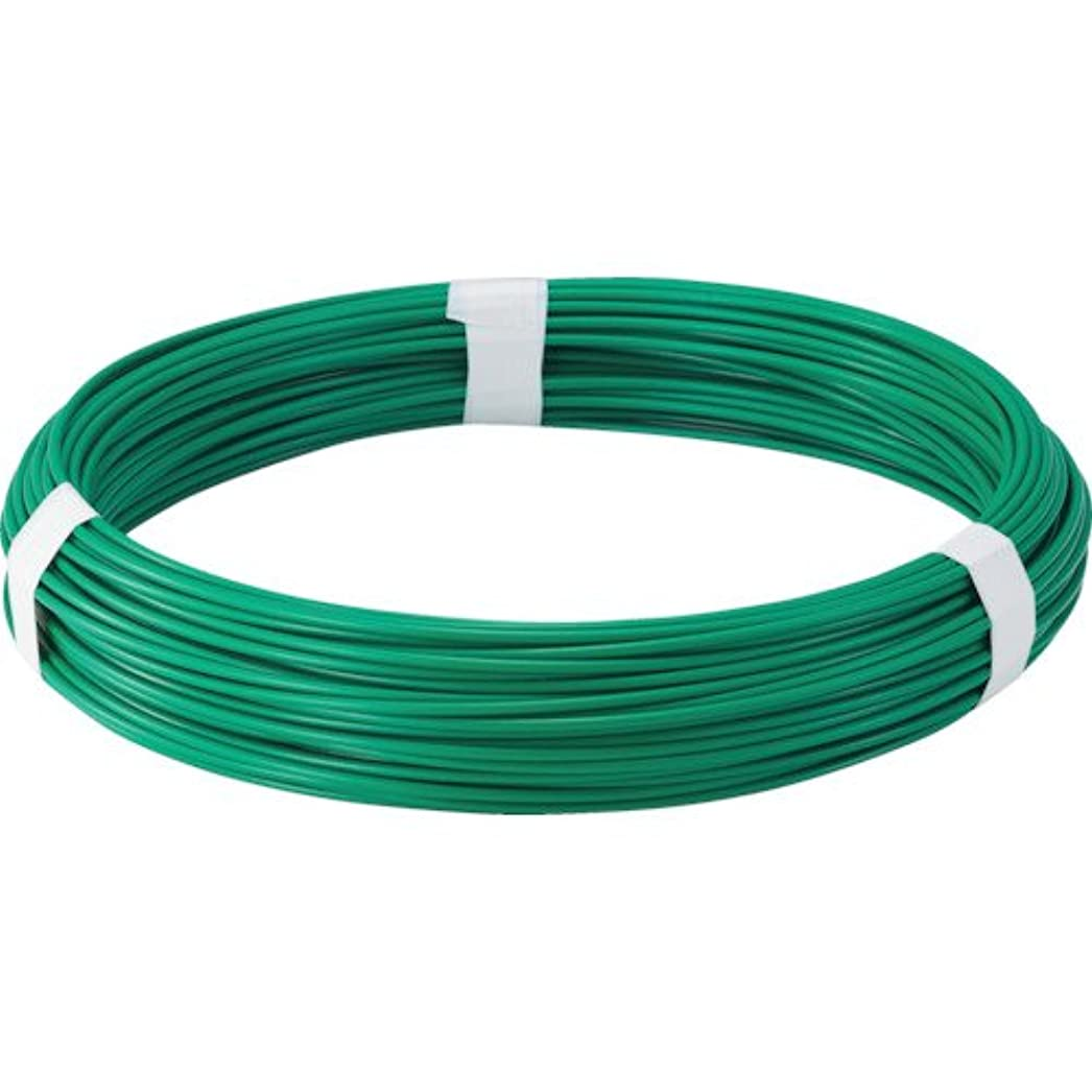 聞くシャープモナリザTRUSCO(トラスコ) カラー針金 ビニール被覆タイプ グリーン 線径3.2mm TCW-32GN