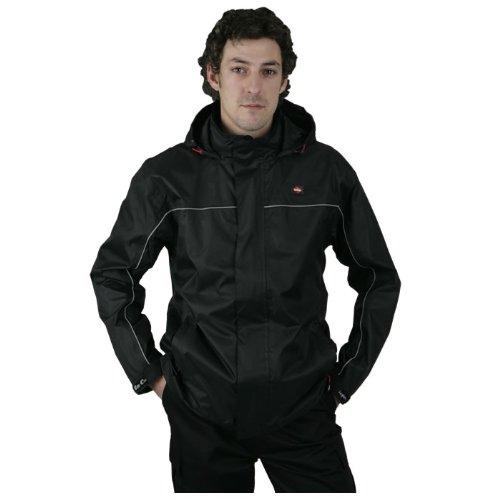 Lee Cooper Workwear Noir Léger étanche Veste de Travail – Taille L
