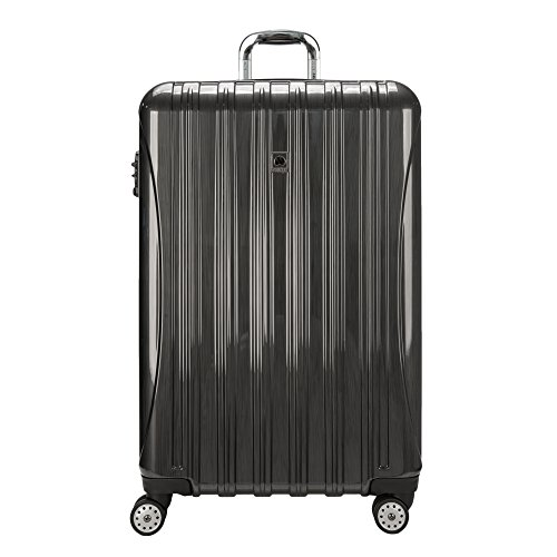 DELSEY Paris Helium Aero Hardside Expandable Luggage with Spinner Wheels, Brushed Charcoal, Checked-Large 29 Inch