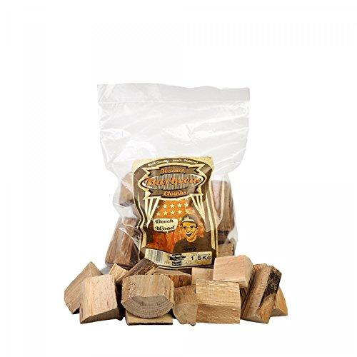 Axtschlag Räucherklötze Buche, 1500 g XXL Packung sortenreine faustgroße Wood Chunks zum Smoken und Räuchern über längere Zeit, für alle Grills geeignet