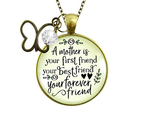 gutsy goodness friend pendants Gutsy Goodness Mother First Best Friend Necklace Matching Mom Daughter Jewelry Gift 24