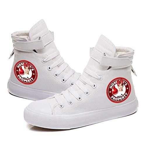 HJJ® Zapatos bts BTS a prueba de balas Grupo Juvenil Hi-top Calzado casual Hiphop de la manera del estilo zapatos for adultos ata for arriba el movimiento de lona, con Avatar miembros y Nombre (negr
