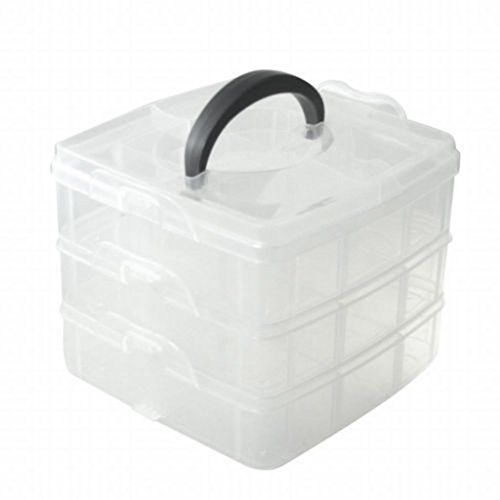 3 Niveles Ajustable Cuenta Joyería, Manualidades Herramienta Organizador De Almacenamiento Contenedor Caja
