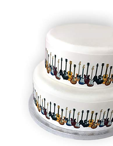 Top That Edible Decor Sheet Guitar Musical Instrument Border Ribbon - Perfect for Decorating Your Cakes- Easy to Use