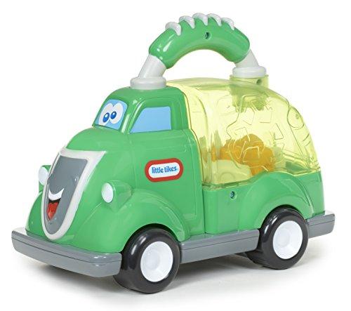 Little Tikes Camion Benne Rey - Jouet léger doté d'un socle transparent & de sons intéractifs - Encourage les jeux d'action - Pour les enfants âgés de 12 mois et +