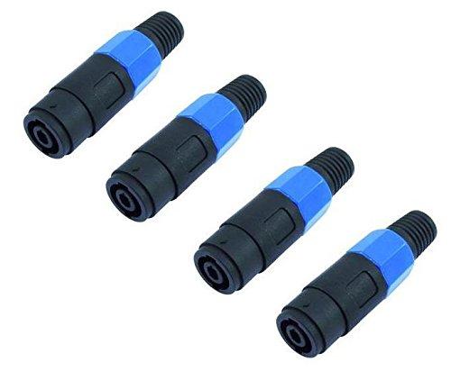 4x Adam Hall 7874 - PA Lautsprecher Kabel-Kupplung 4-polig, Speaker-Kupplung Kabelkupplung
