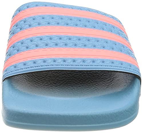 adidas Adilette, Slide Sandal Mujer, Hazy Blue/Hazy Rose/Hazy Blue, 37 EU