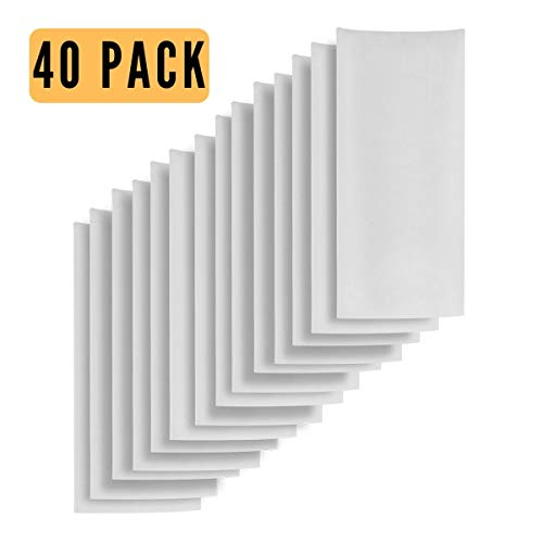 [ 40 Pack ] 2x4.5 Inch 160 Micron Filter Bag Bulk Pack - Nylon Filter Press Bags - Pairs It Well with Cylinder Pre Press or 2x4 Inch Prepress Mold