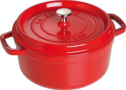 Staub 40509-835-0 - Olla Cocotte redonda, hierro fundido, rojo cereza, 24 cm