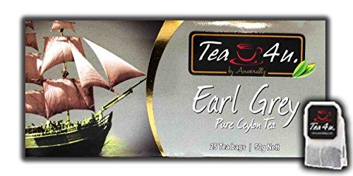Tea4U Earl Grey Black Tea Bags - Scented with Bergamot