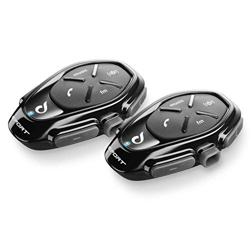 INTERPHONE INTERPHOSPORTTP Interfono da Moto con Bluetooth, Nero, 2