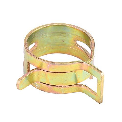 Outbit Schlauchschelle - 100PCS Federstahlschlauch Silikonschlauchklemmen Kraftstoffleitung Hoop Clip