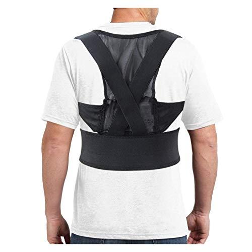 CCAN Corrector de Postura Protección Espalda Hombro Banda de corrección de Postura Corrector de Alivio del Dolor de Espalda jorobada Ortesis Transpirable (Tamaño: Mediano) Harmonious Home