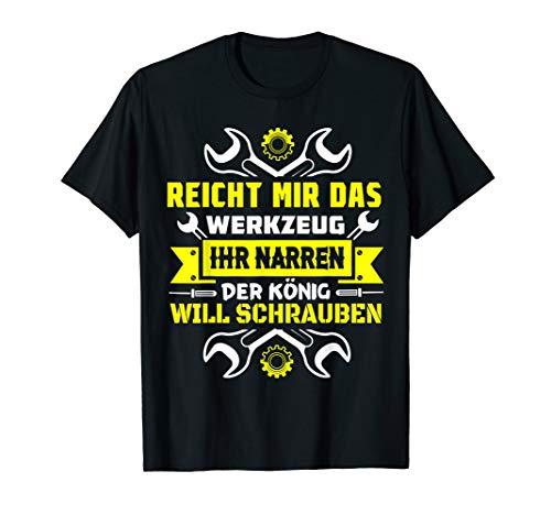 Cooles KZF Mechatroniker Geschenk für Geselle KFZ Meister T-Shirt
