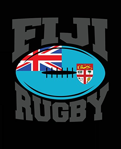 Fiji Rugby: Fiji Rugby Composition Notebook Back to School 7.5 x 9.25 Inches 100 College Ruled Pages Rugby Player Coach Team Gift