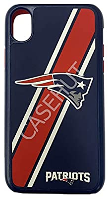 iPhone Xs MAX Impact Series Dual Layered Protective Case for NFL New England Patriots by Forever Collectibles