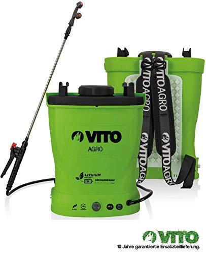 VITO Garden 16 Liter Lithium Akku Drucksprüher - Akku Rückenspritze - Akku Drucksprühgerät - rückentragbarer Drucksprüher (16L Lithium-Akku)