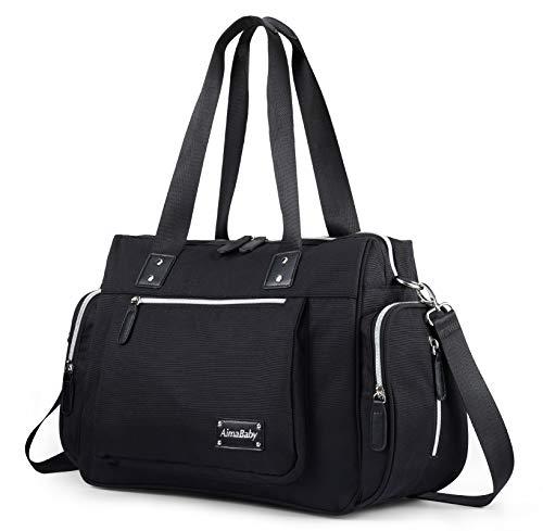 Moderne Allzweck-Wickeltasche, Shopper, Schultertasche, Babytasche mit Wickelunterlage