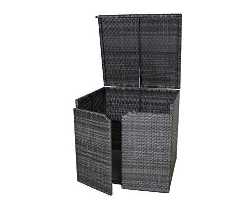 Gardissimo XL Poolyrattan Aluminium Auflagenbox Chesterfield