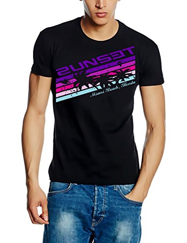 Coole-Fun-T-Shirts T-Shirt 2unset ! Vintage, schwarz/lila, XL, 10757_Schwarz/Lila_GR.XL