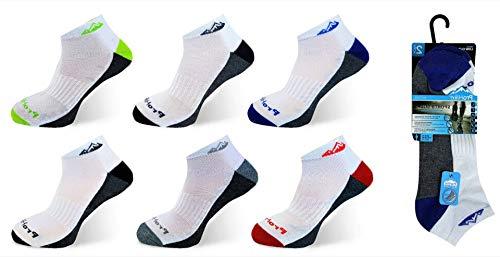 6 Pairs Mens Prohike Multi Coloured Cushioned Trainer Sports Socks UK Size 6 11 WhiteGrey