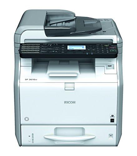RICOH SP 3600SF A4 Mono MFP Laserdrucker 30ppm Print scan Copy fax 250Blatt Papierkassette
