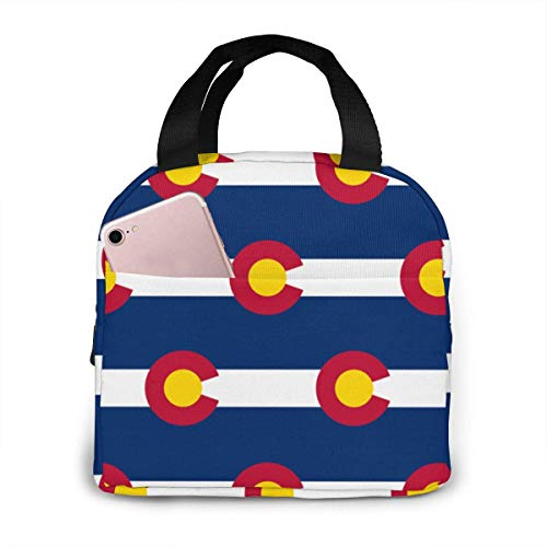 Colorado Flag Pattern Insulated Lunch Bags for Women&Men Lunch Portable Box for Lunch Cooler Tote for Work School Travel