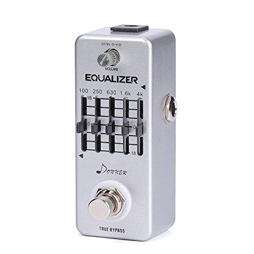 Donner Pedal de ecualizador Pedal de efecto de guitarra con ecualizador gráfico de 5 bandas