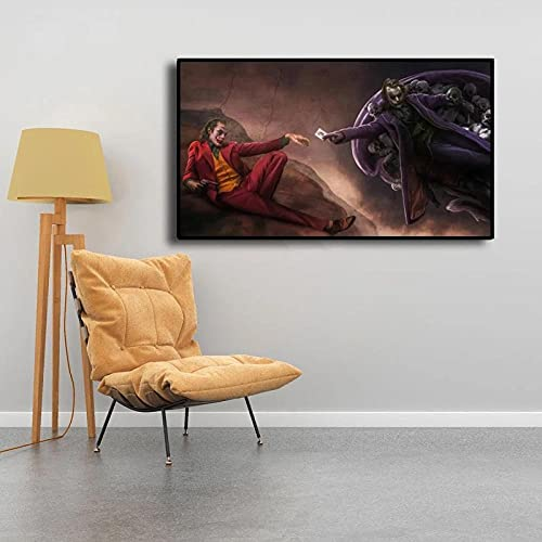 LCZM Bilder fleece canvasbild 1 TLG konsttryck affisch moderna väggbilder XXL väggdekoration design vägg bild canvastryck skapande av Adam kopia ( (Ps-ram)/50 x 70 cm
